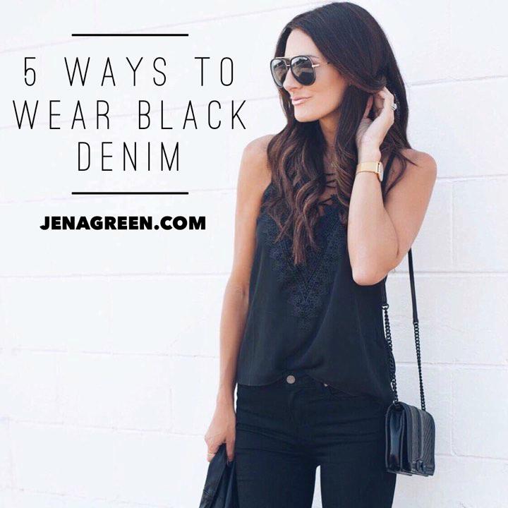 5 Ways To Wear Black Denim