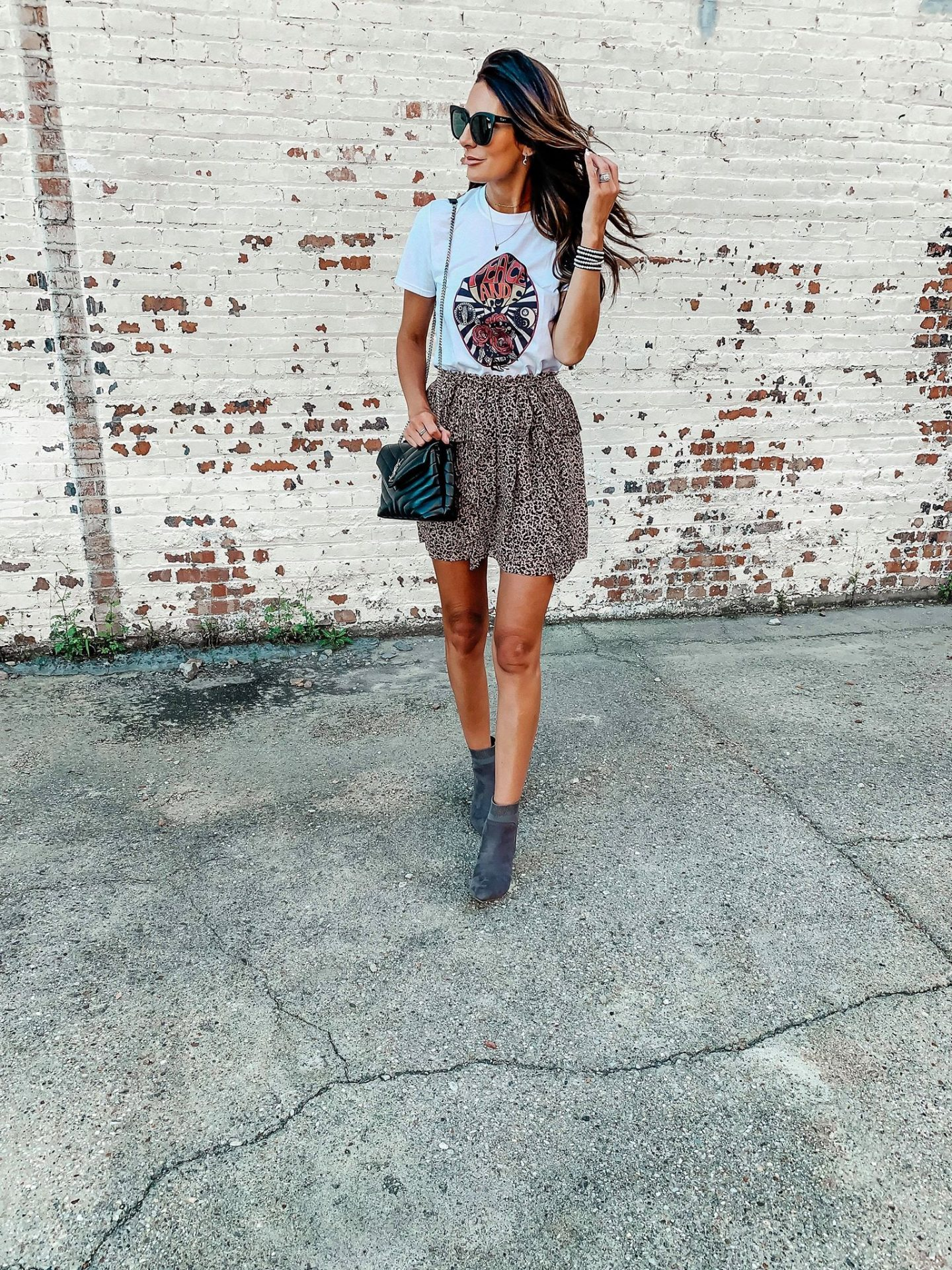 Graphic Tee & Skirt style with Nordstrom